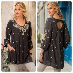 •SOFT SURROUNDINGS• Mirabilis Embroidered Tunic XL